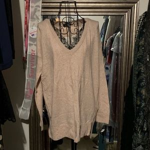 TopShop Sweater lace detail at v-neck